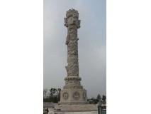 石雕文化柱,文化柱石雕,文化柱